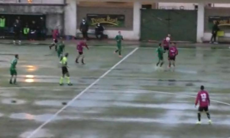 """Serie D, il Tolentino naufraga sotto il diluvio del """"Ferrante"""": netto 3-0 per la Matese"""