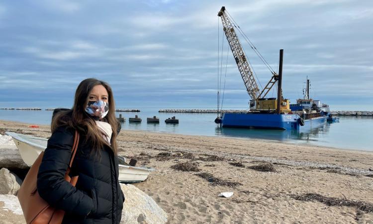 """Porto Recanati, Leonardi: """"Dalle Regione ulteriori 100mila euro per la difesa della costa"""""""