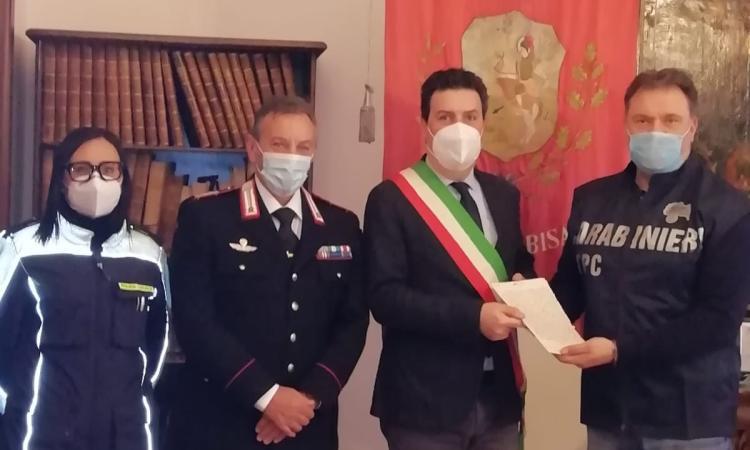 Urbisaglia, importante documento dell'Ottocento riconsegnato al Comune dai carabinieri di Perugia