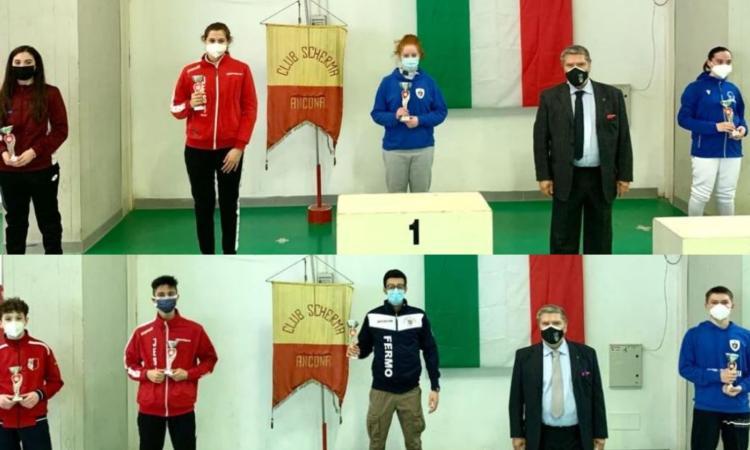 Club Scherma Recanati, i giovani Pintucci e Pennacchioni tornano da Ancona con due podi nella Spada