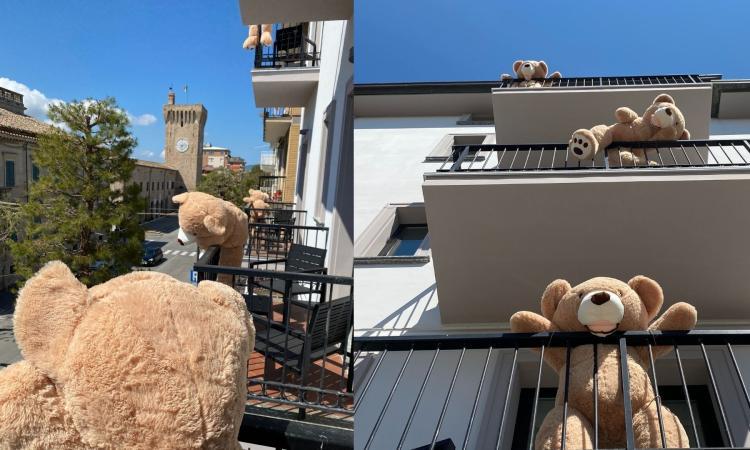 """Porto Recanati si riempie di turisti, ma di peluche: l'Hotel Enzo """"sold out"""" grazie agli orsacchiotti"""