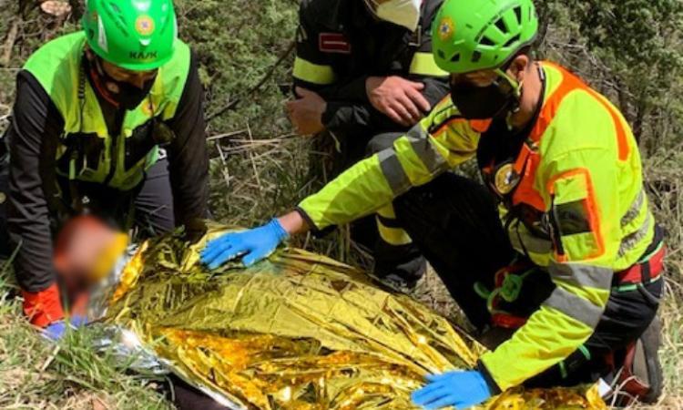 Esanatoglia, ciclista cade sul Monte Cafaggio: recuperato con la barella