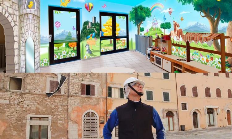 L'arte di Silvio Irilli per colorare l'asilo nido di Visso: lanciata campagna di crowfunding