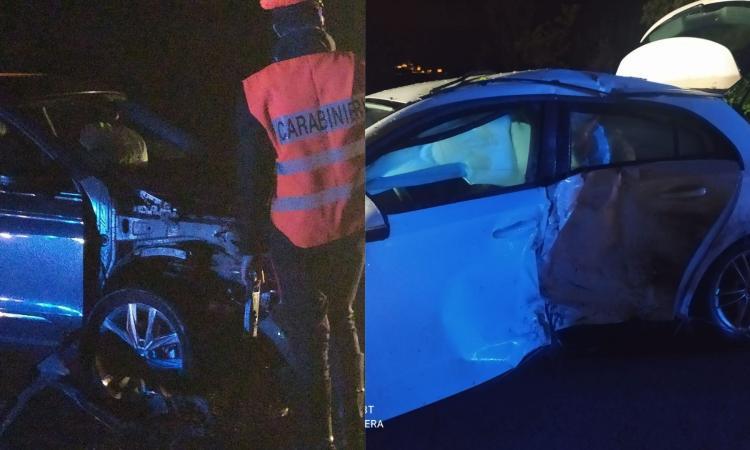 Treia, scontro tra due auto lungo la 'Cingolana': un dottore trasportato a Torrette in gravi condizioni (FOTO)