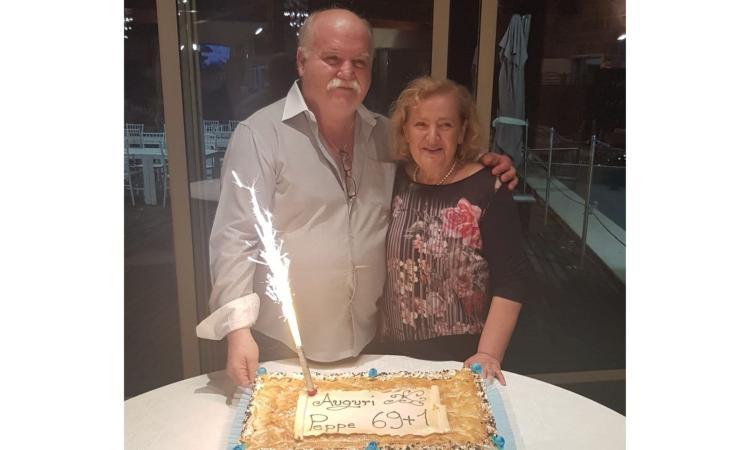 Pollenza, lo chef Giuseppe Giustozzi festeggia 70 anni: festa con famiglia e amici