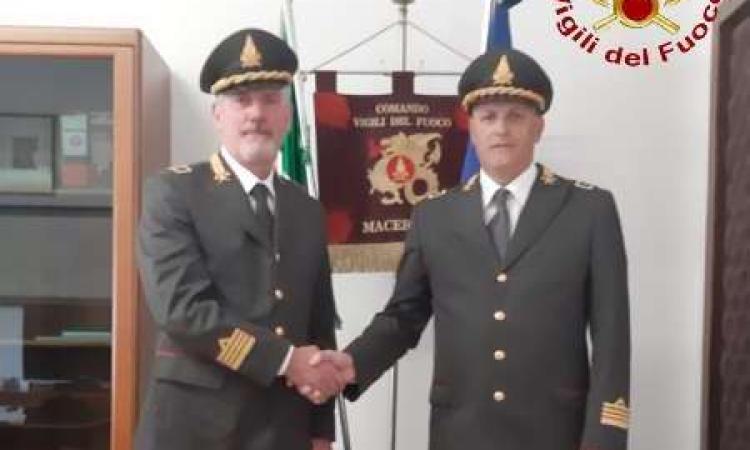 Macerata, cambio alla guida dei Vigili del Fuoco: Mauro Caprarelli è il nuovo comandante