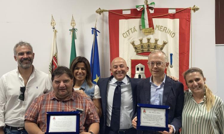 Camerino, targa di ringraziamento ai dirigenti scolastici Rosati e Cavallaro