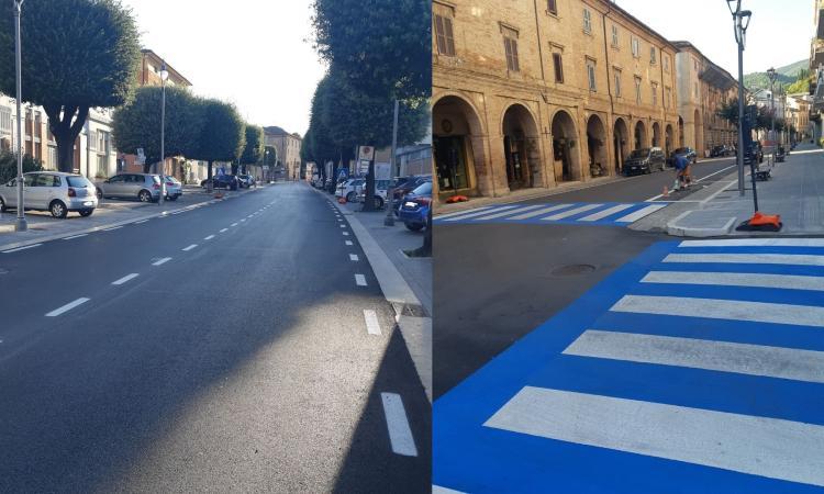 San Severino, viali Eustachio e Bigioli: terminati i lavori di asfaltatura