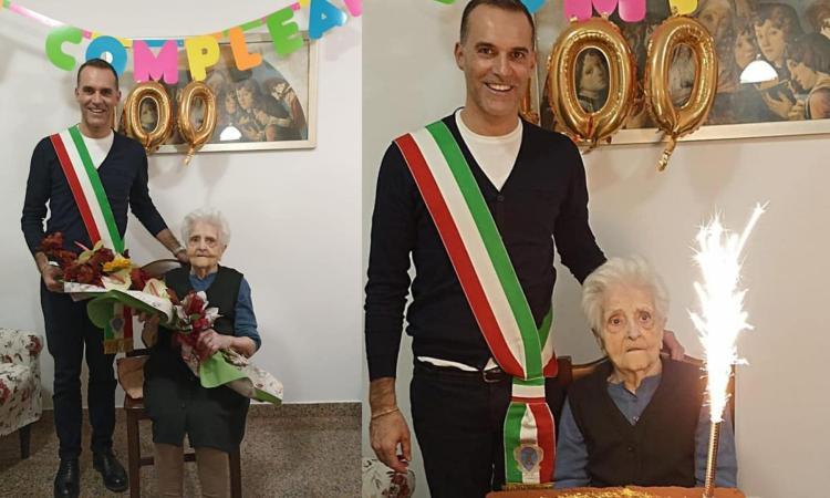 Morrovalle ha una nuova centenaria: festa per la storica bidella Bianca Scoponi
