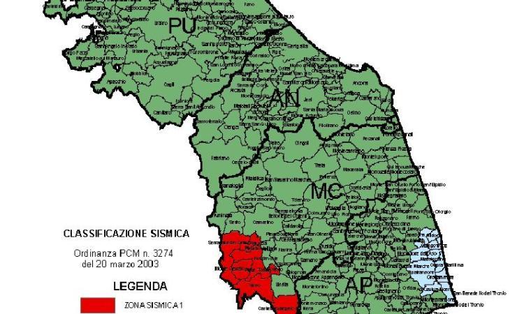 Cartina Dell Italia Zone Sismiche.Terremoto La Mappa Completa Della Classificazione Sismica Dei Comuni Marchigiani Picchio News Il Giornale Tra La Gente Per La Gente