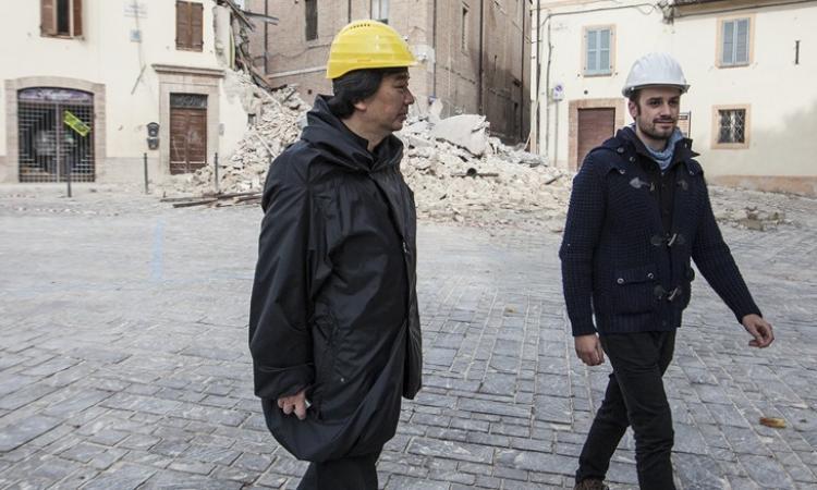 Sisma, a Camerino rimosso campanile della Chiesa di Madonna delle Carceri